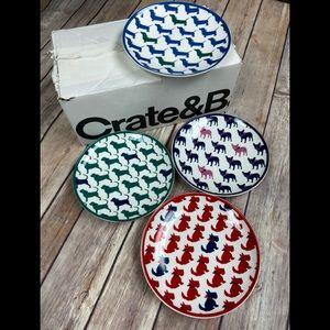 Draper James Appetizer plates - Dog Themed